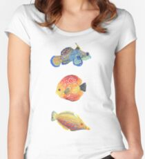 Water Colors Women's Fitted Scoop T-Shirt