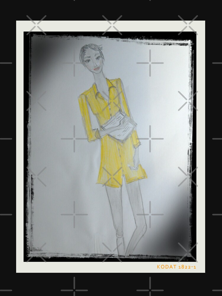 Girl Wearing A Yellow Shirt Dress (Fashion Illustration) by IvanaKada