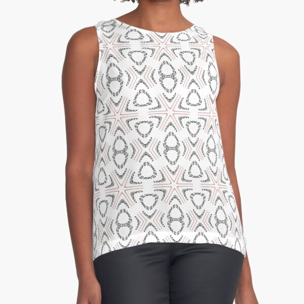 pattern, design, tracery, weave, decoration, motif, marking, ornament, ornamentation, #pattern, #design, #tracery, #weave, #decoration, #motif, #marking, #ornament, #ornamentation Sleeveless Top