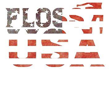 Floss USA Flossing Dance 4th July Hoodie by PinkDesigns