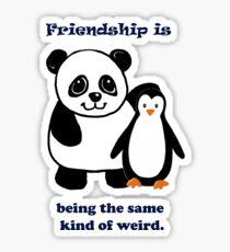 Frienship, Penguin and Panda Sticker
