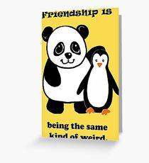 Frienship, Penguin and Panda Greeting Card