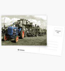 Fordson & the Threshing Machine Postcards