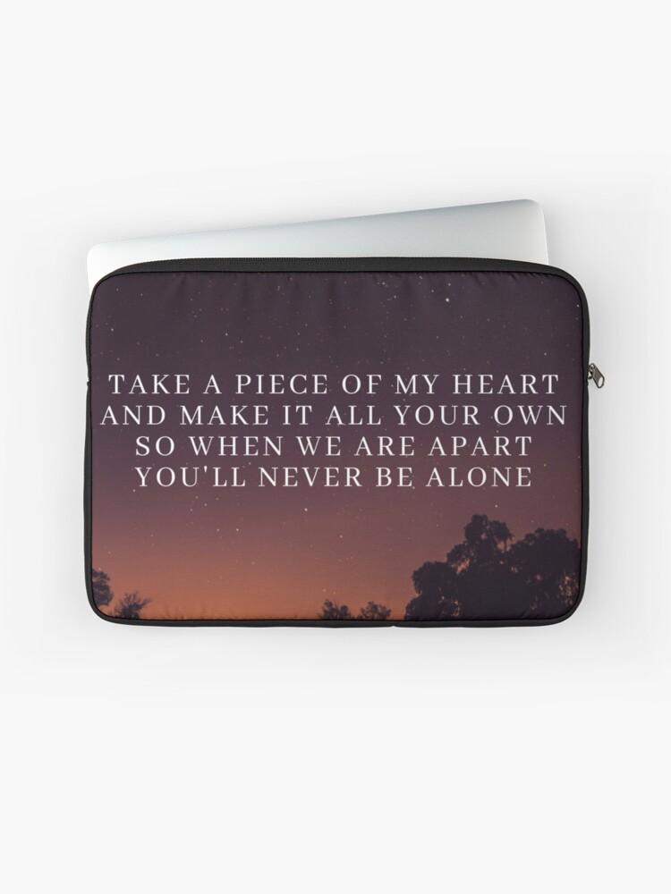 Never Be Alone Lyrics (Pt  2) - Shawn Mendes | Laptop Sleeve