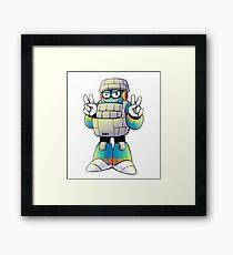 Block Man Framed Print