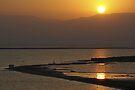 Sun rise over the Dead Sea by Moshe Cohen