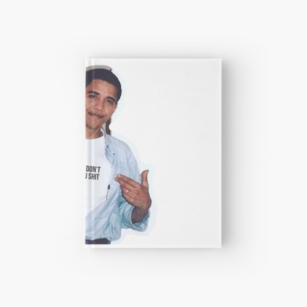 obama meme women dont owe you shirt sticker Hardcover Journal