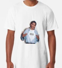 Camiseta larga las mujeres del meme de obama no le deben etiqueta engomada de la camisa