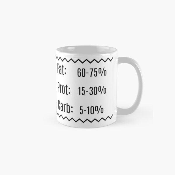 Keto Mug (Black and White, includes Keto Macros) Classic Mug