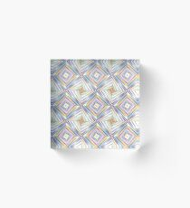 explode rainbow prismatic geometric seamless colorful repeat pattern Acrylic Block