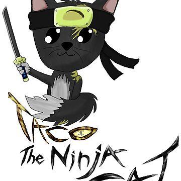 Taco the Ninja Cat by MekaX