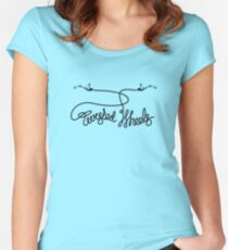 twisted wheels: brake cable 2 Women's Fitted Scoop T-Shirt