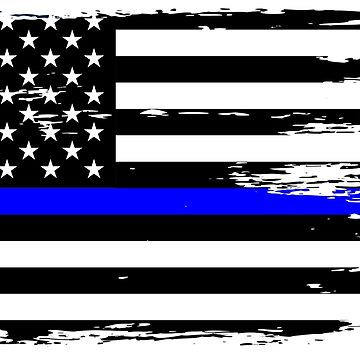 Thin Blue Line Sheepdog First Responder Flag by culturesociety