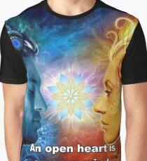 An open heart is an open mind - Dalai Lama Graphic T-Shirt
