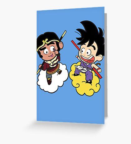 The 2 Monkeys Greeting Card