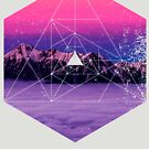 Nature and Geometry - Mountains and Constellations by Denis Marsili