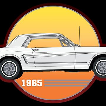 65 White Ford Mustang  by Olivia-Grimley