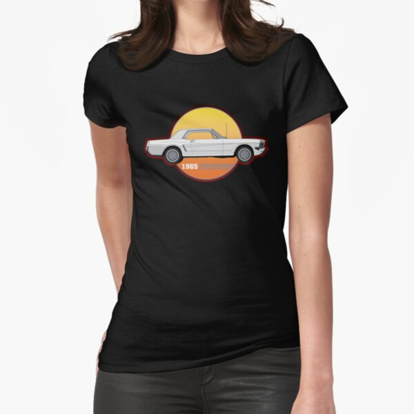 65 White Ford Mustang  Fitted T-Shirt