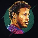 Geometric Neymar by Mark White
