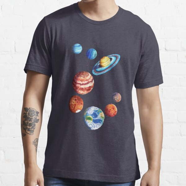 Watercolor Planets Essential T-Shirt