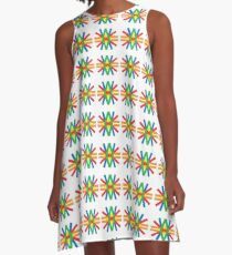 colorful holiday festive event seamless repeat pattern A-Line Dress