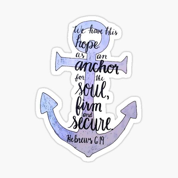 Hebrews 6:19 Anchor Sticker
