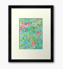 Tropical Waters Abstract #sabidussi #redbubble #decor #artprints Framed Print