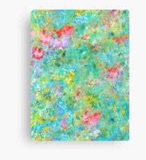 Tropical Waters Abstract #sabidussi #redbubble #decor #artprints Canvas Print