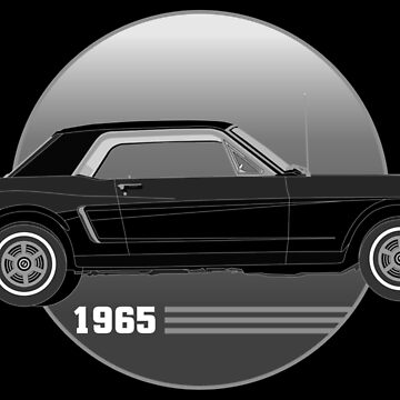 65 Black Ford Mustang by Olivia-Grimley