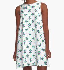 rainbow colorful minimal seamless repeat pattern A-Line Dress