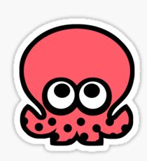 octoling octopus (pink) Sticker