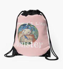 Mommy's LIttle Monster Drawstring Bag