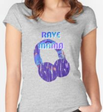 EDM Rave Mama Shirt | Present for the Rave Mom Women's Fitted Scoop T-Shirt