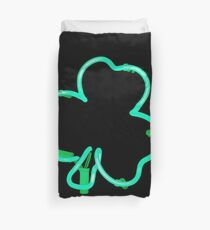 Neon Irish Shamrock Duvet Cover