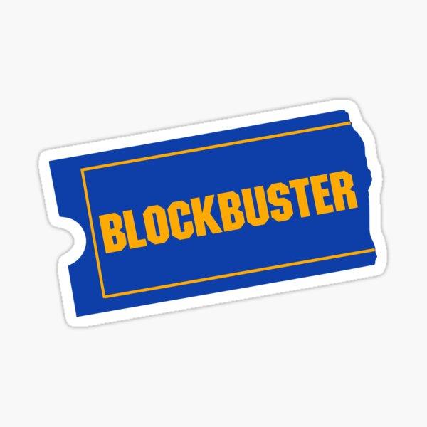Blockbuster Retro Logo Sticker