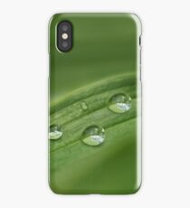 Water drops on green grass iPhone Case
