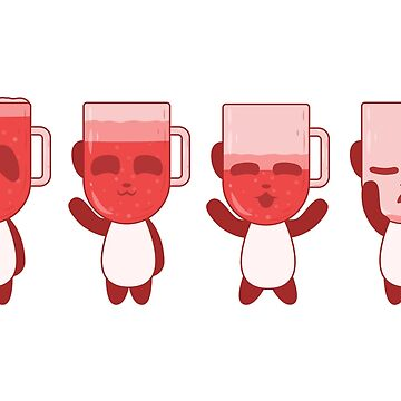 Red IPA Panda Beer by animinimal