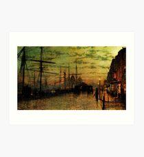 John Atkinson Grimshaw - Humber Docks, Hull Art Print