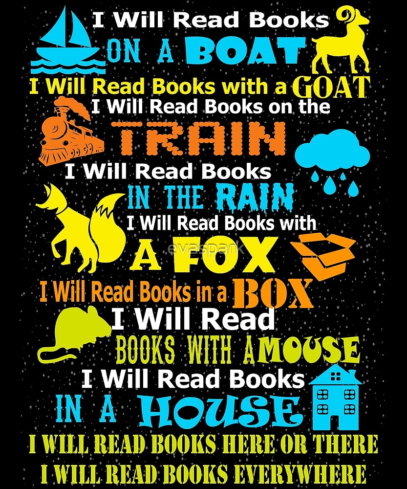 I will read books on a boat & everywhere - Reading T-Shirt by evaspark
