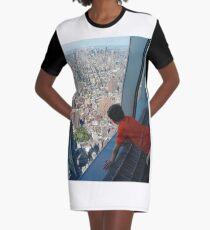 New York City, Manhattan, Brooklyn, New York, streets, buildings, skyscrapers, cars, pedestrians, #NewYorkCity, #Manhattan, #Brooklyn, #NewYork, #streets, #buildings, #skyscrapers, #cars, #pedestrians Graphic T-Shirt Dress