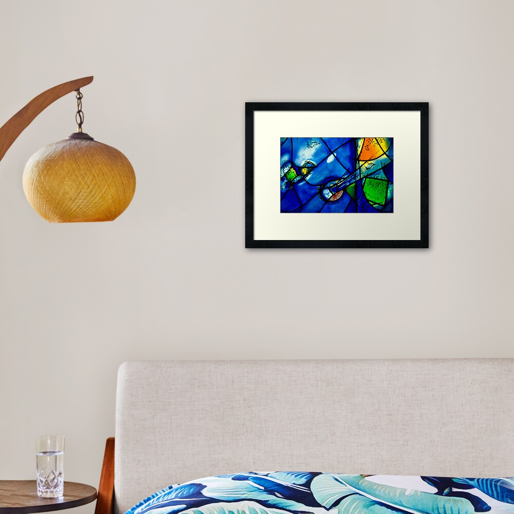 Chagall windows detail Framed Art Print
