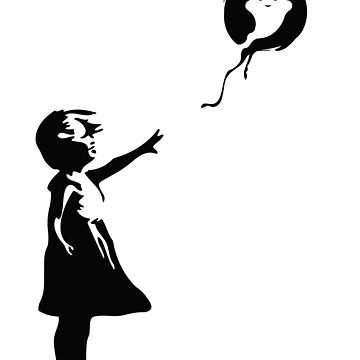 Ethereum Casper Protocol Balloon Girl - Banksy Loves Bitcoin Series (The Original) by Gomatthew