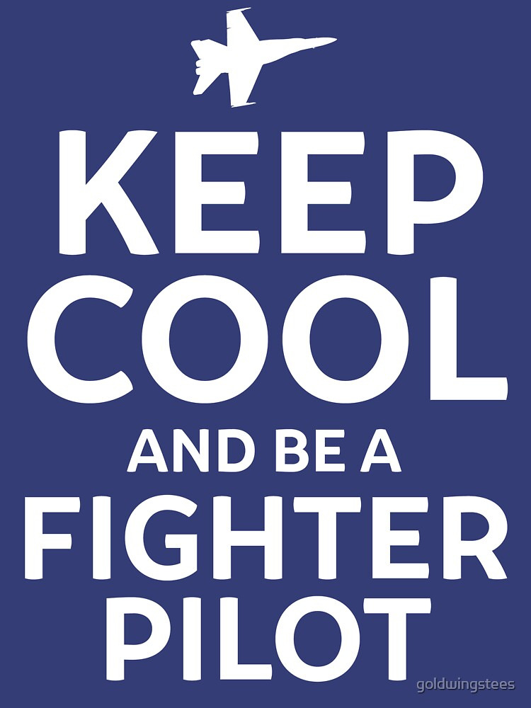 Keep Cool and Be a Fighter Pilot by goldwingstees