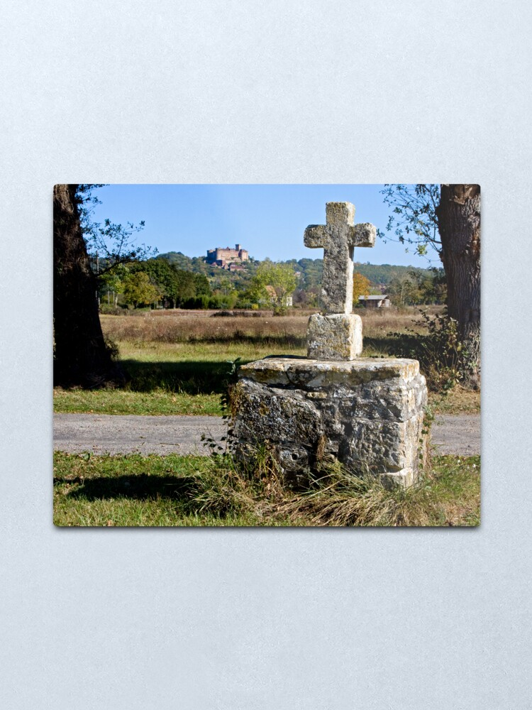 Alternate view of Stone Cross, Dordogne Valley Metal Print