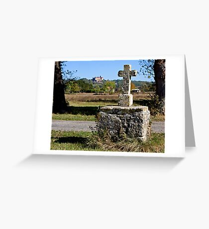 Stone Cross, Dordogne Valley Greeting Card