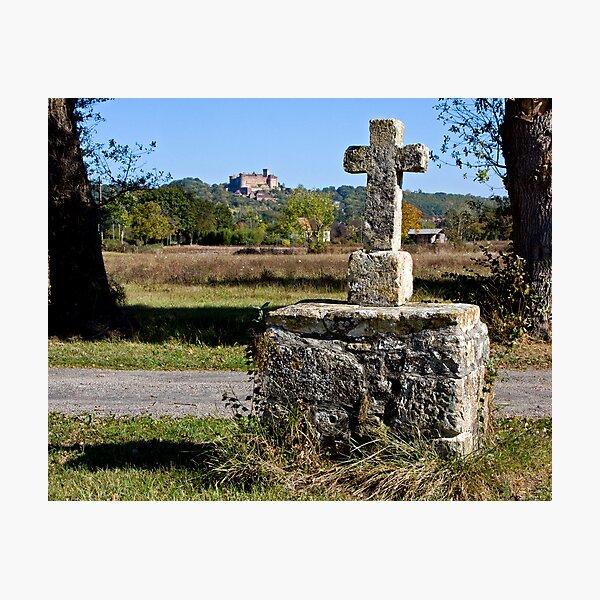 Stone Cross, Dordogne Valley Photographic Print