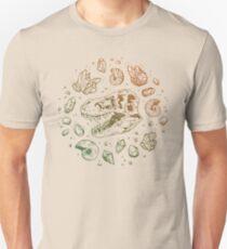 Geo-rex Vortex   Leaf Green & Pumpkin Spice Ombré Unisex T-Shirt