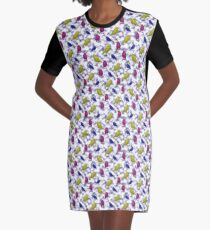 The Colored Ravens Graphic T-Shirt Dress