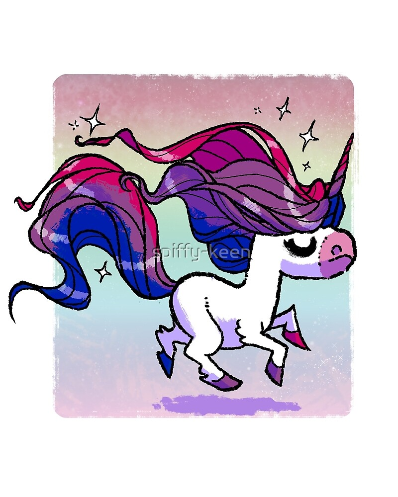 Pride Unicorn - Bisexual by spiffy-keen