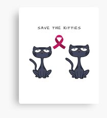 Breast Cancer Awareness-Save The Kitties-MentallyScattered Canvas Print